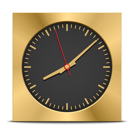 Square clock, vector illustration
