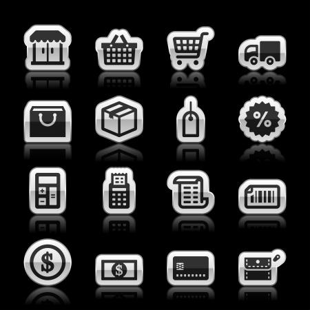 Shopping icons, vector illustration Ilustração