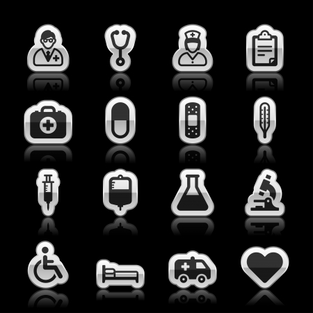 Medical icons, vector illustration Ilustração