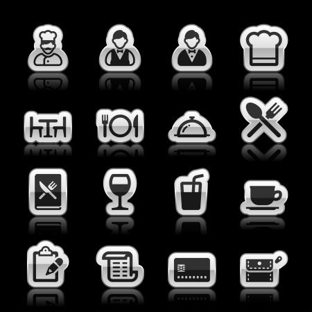 cloche: Restaurant icons, vector illustration Illustration