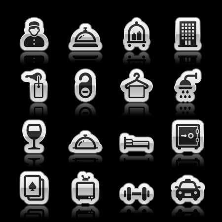 Hotel icons, vector illustration Vector
