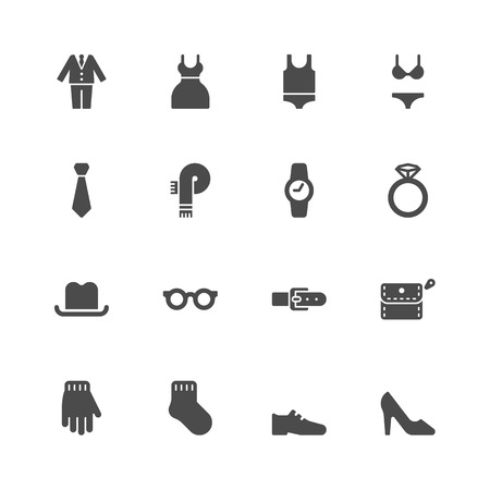 woman tie: Clothes icons  Illustration