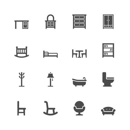 mobiliario oficina: Iconos de muebles