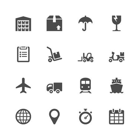 Logistic icons Ilustração