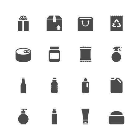 a bag: Package icons Illustration