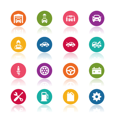 car garage: Car service icons