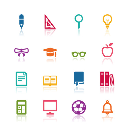 Education icons Imagens - 32024749