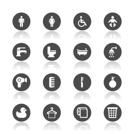 Bathroom icons Ilustração