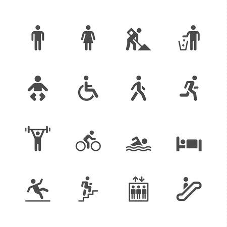 gente durmiendo: Iconos de personas Vectores