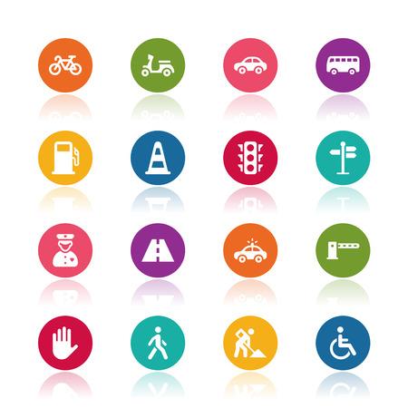 trasporti: Icone di traffico
