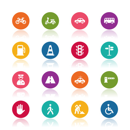traffic police: Traffic icons