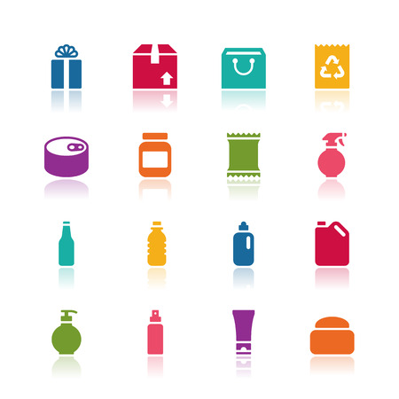 canned food: Package icons Illustration