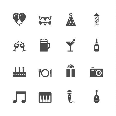 celebration icons Ilustração