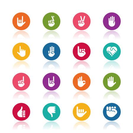 Hand icons  イラスト・ベクター素材
