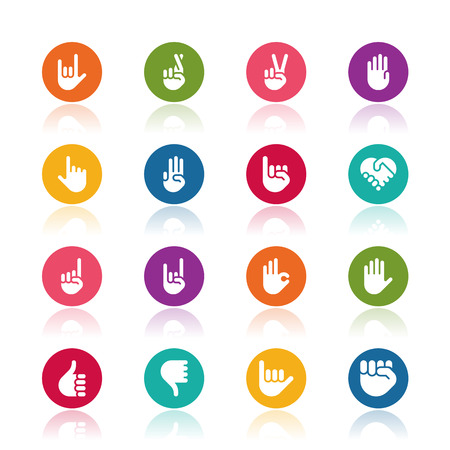 fingers: Hand icons Illustration
