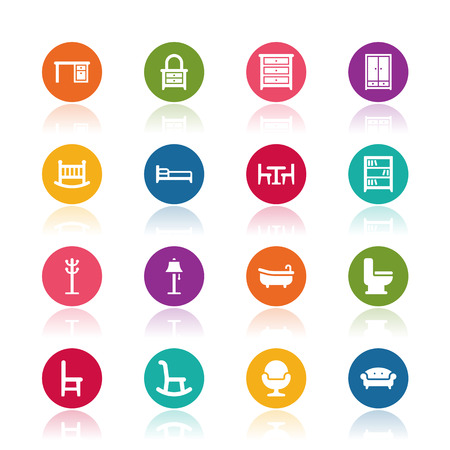 Furniture icons Imagens - 44098348