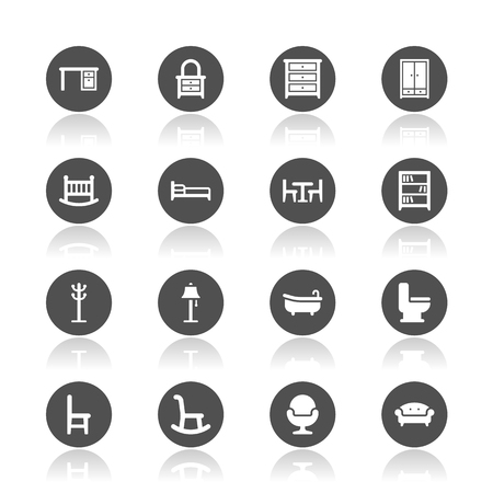 Furniture icons Imagens - 48384808