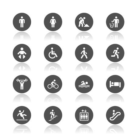 Menschen Symbole Standard-Bild - 48384822