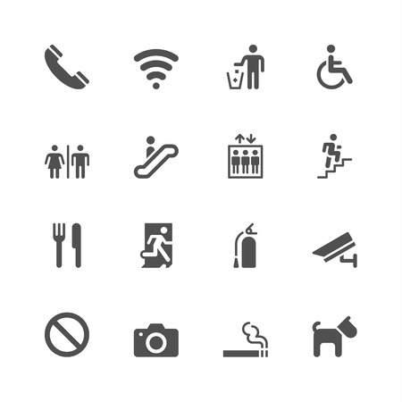no cameras allowed: Public icons Illustration