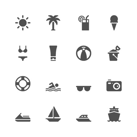 Summer icons Ilustração