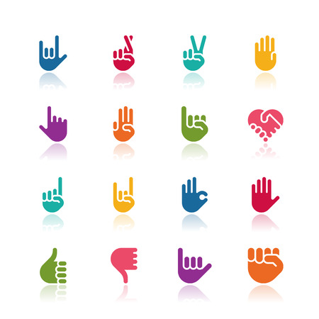 human touch: Hand icons Illustration