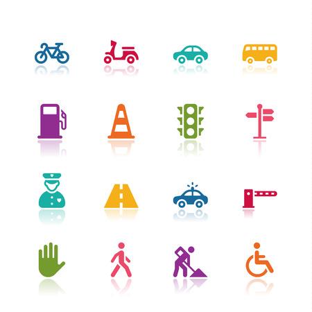 se�ales de transito: Iconos de tr�fico