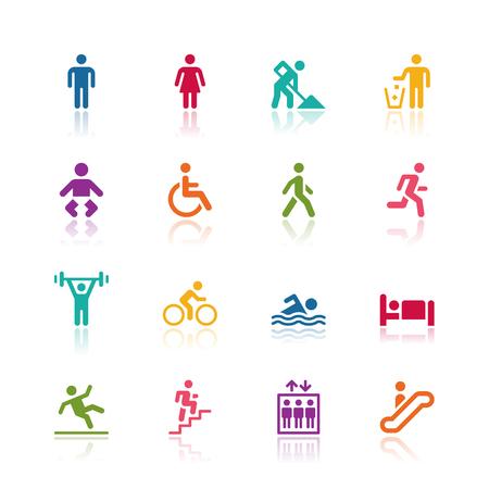 human figure: Iconos de personas Vectores