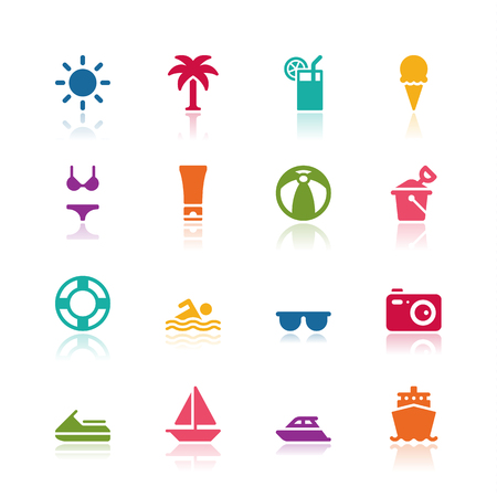 Summer icons Imagens - 52871496