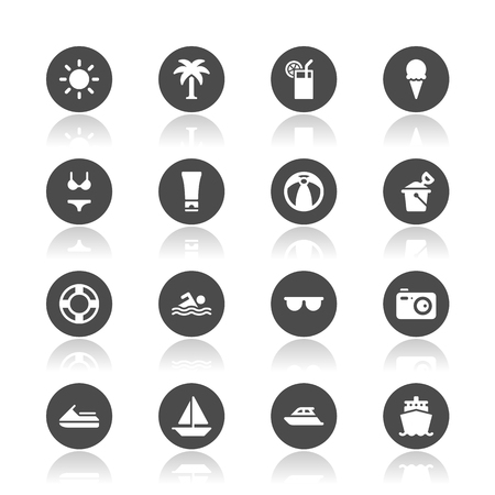 Summer icons Imagens - 52871500
