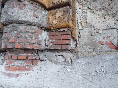 ruined brick wall photo
