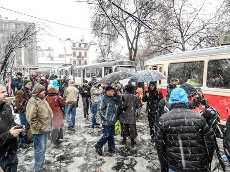 Hard winter in Bucharest