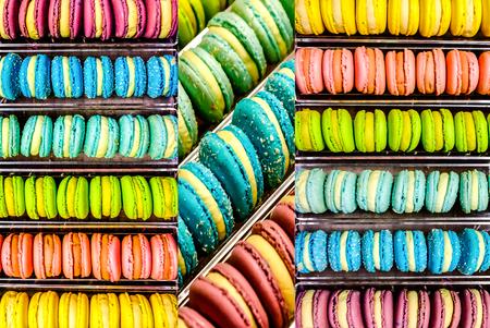 pistachio: multicolored french macaroon