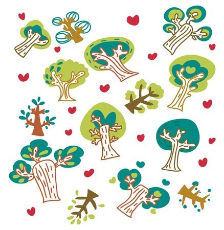 trees fancy Stock Vector - 9445959