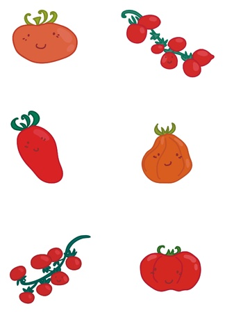 various types of tomatoes  Illustration