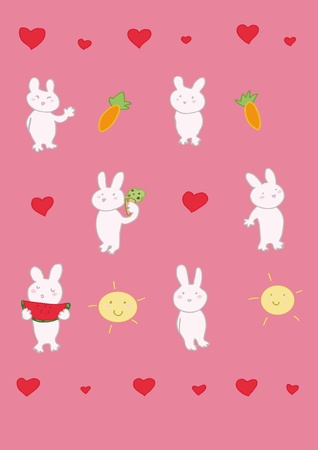 funny rabbits puppets Vector