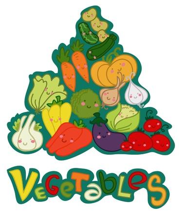 piramide alimenticia: Pir�mide vegables Vectores