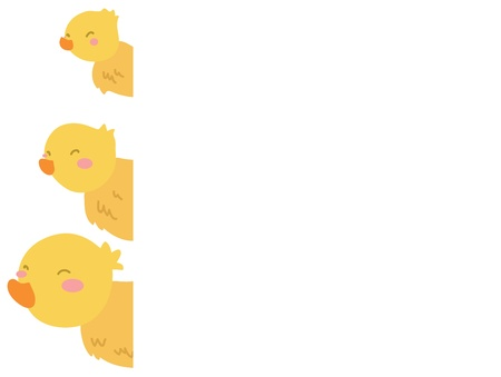little ducks frame page Vector