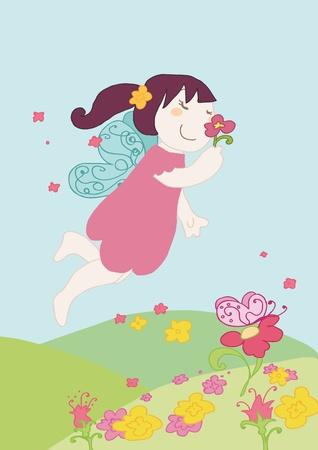 fairy story: fatina odore di un fiore