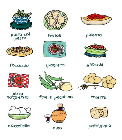 naples: Some of the most famous italian food. Digital