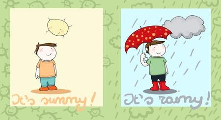 sunny and rainy photo