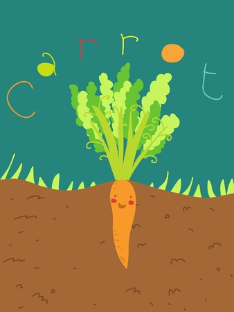 funny carrot plant Stock Photo