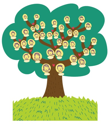 divertida caricatura �rbol geneal�gico Foto de archivo - 13514383