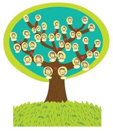 funny cartoon family tree photo
