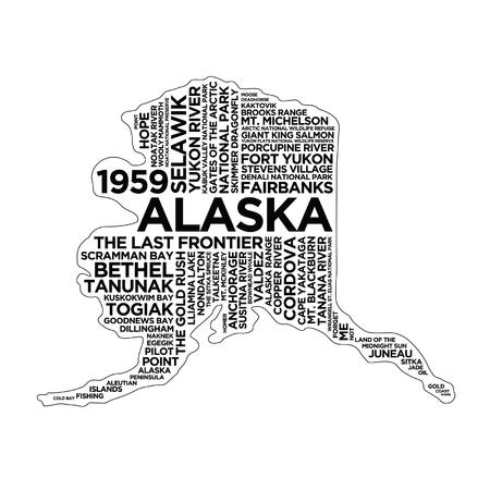 Alaska State Typography