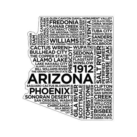 アリゾナ州のタイポグラフィ 写真素材 - 83252583