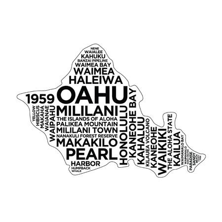 Oahu Hawaii Typography