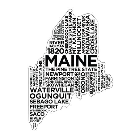 Maine State Typography