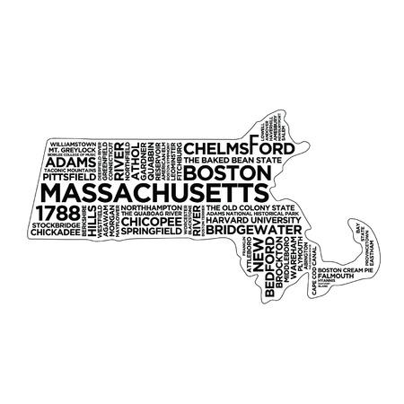 Massachusetts State Typography