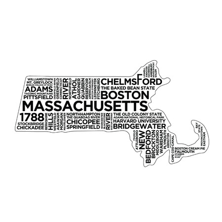 Massachusetts State Typography