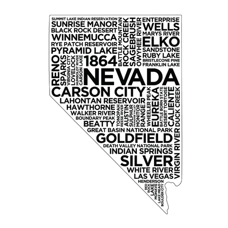 Nevada State Typography